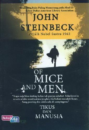 Cover Buku Of Mice And Men (Cover Baru)