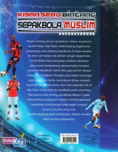 Cover Belakang Buku Kisah Seru Bintang Sepak Bola Muslim