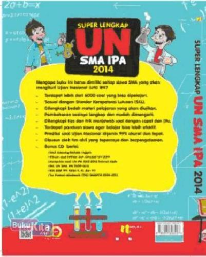 Cover Belakang Buku Super Lengkap UN SMA IPA 2014