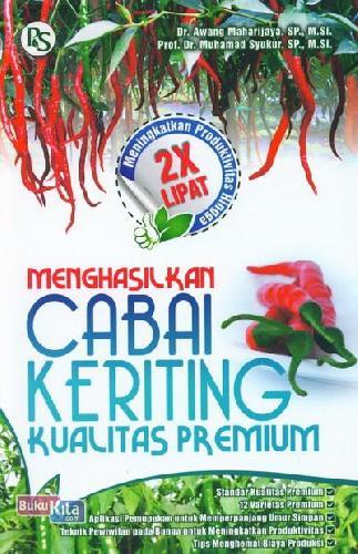 Cover Buku Menghasilkan Cabai Keriting Kualitas Premium