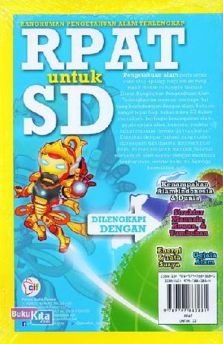 Cover Belakang Buku RPAT untuk SD