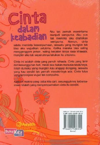 Cover Belakang Buku Cinta Dalam Keabadian