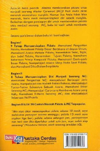 Cover Belakang Buku 9 Tahap Mempersiapkan Pidato & MC