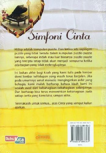 Cover Belakang Buku Simfoni Cinta