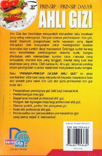 Cover Belakang Buku Prinsip-Prinsip Dasar Ahli Gizi