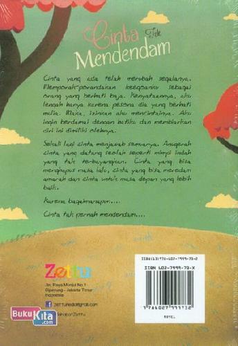 Cover Belakang Buku Cinta Tak Mendendam