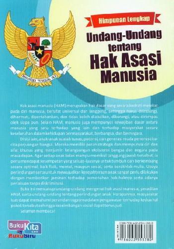 Cover Belakang Buku Himpunan Lengkap Undang-Undang tentang Hak Asasi Manusia
