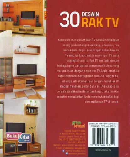 Cover Belakang Buku 30 Desain Rak TV