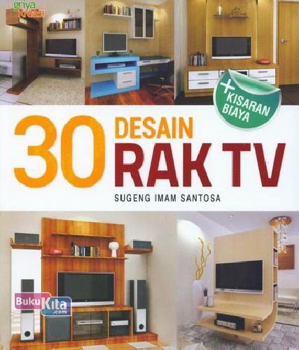 Cover Buku 30 Desain Rak TV