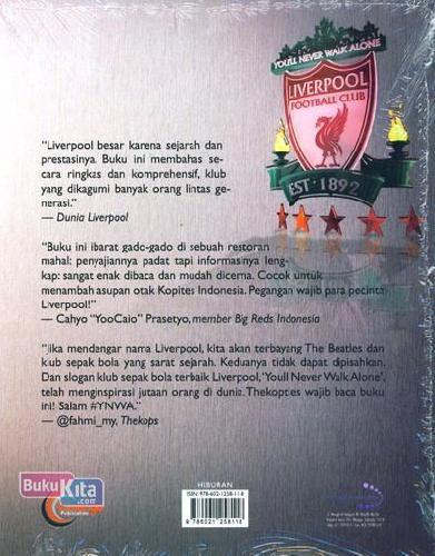 Cover Belakang Buku Liverpool FC You'll Never Walk Alone