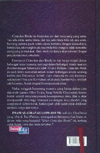Cover Belakang Buku Kitab Cinta dan Rindu