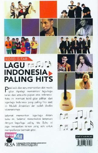 Cover Belakang Buku Kord Gitar Lagu Indonesia Paling Hits