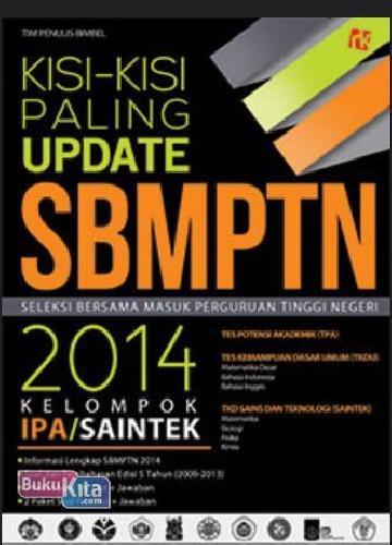 Cover Buku Kisi-kisi Paling Update SBMPTN 2014 Kelompok IPA/Saintek