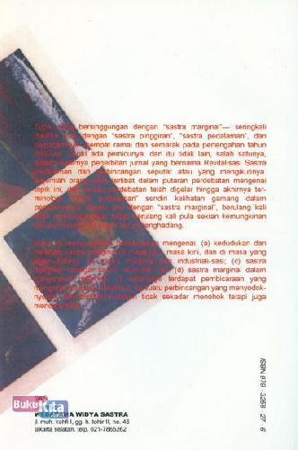 Cover Belakang Buku Menyoal sastra marginal