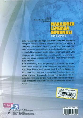 Cover Belakang Buku Manajemen Lembaga Informasi Teori dan Praktik