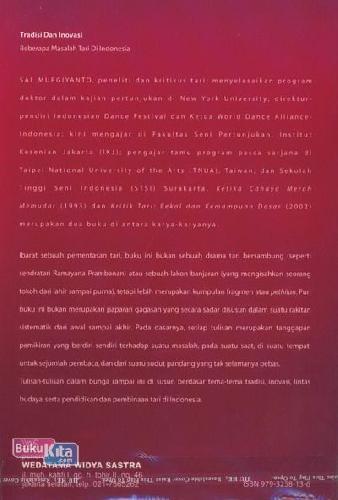 Cover Belakang Buku Tradisi dan Inovasi: Beberapa Masalah Tari di Indonesia
