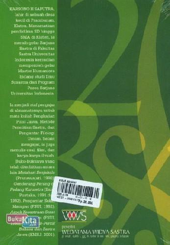 Cover Belakang Buku Sekar Macapat
