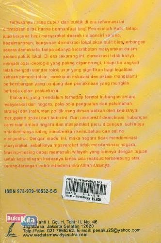 Cover Belakang Buku Posisi Politik Masyarakat Dalam Era Otonomi Daerah