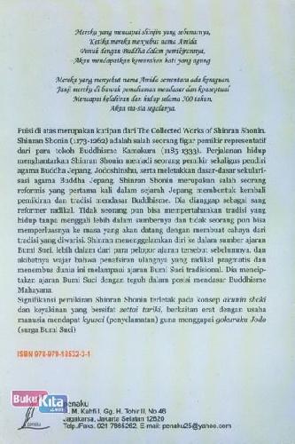 Cover Belakang Buku Akuninshoki Zettai Tariki Dalam Agama Buddha Jepang