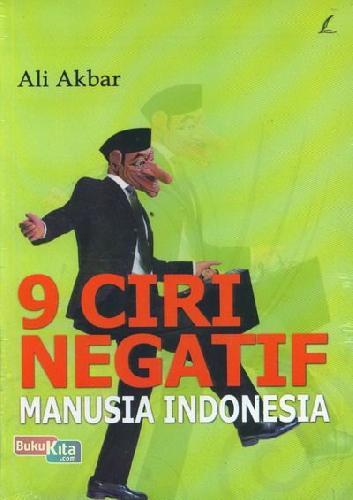Cover Buku 9 Ciri Negatif Manusia Indonesia