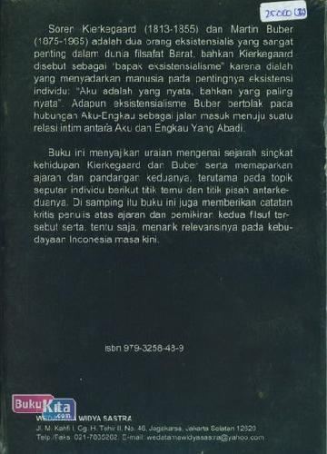 Cover Belakang Buku Perjumpaan Dalam Dimensi: Ketuhanan Kierkegaard & Buber