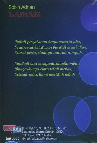 Cover Belakang Buku Lamar