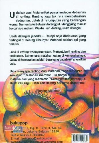 Cover Belakang Buku Ranting Matahari