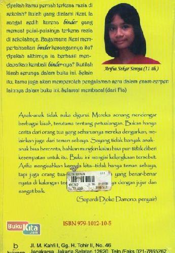 Cover Belakang Buku Kumpulan Cerita Anak-Anak: Razia Mainan