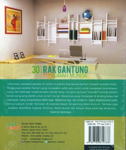 Cover Belakang Buku 30 Desain Rak Gantung Untuk Rumah Mungil