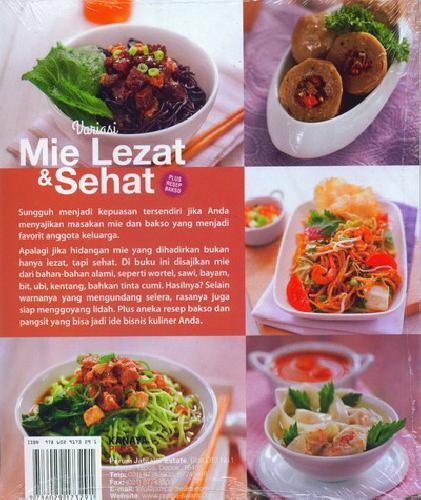 Cover Belakang Buku Variasi Mie Lezat & Sehat (Plus Resep Bakso)