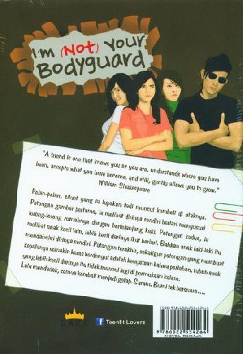 Cover Belakang Buku I'm Not Your Bodyguard