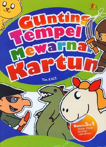 Cover Buku Gunting Tempel Mewarnai Kartun