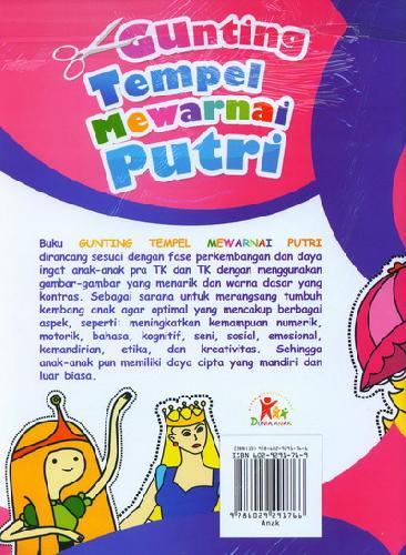 Cover Belakang Buku Gunting Tempel Mewarnai Putri