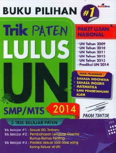 Cover Buku Buku Pilihan Trik Paten Lulus UN SMP/MTS 2014