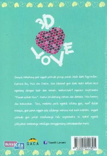 Cover Belakang Buku 3D LOVE