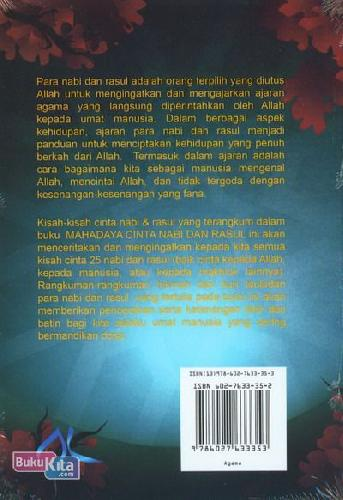 Cover Belakang Buku Mahadaya Cinta Nabi dan Rasul