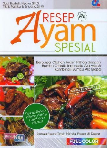 Cover Buku Resep Ayam Spesial