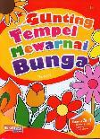Gunting Tempel Mewarnai Bunga