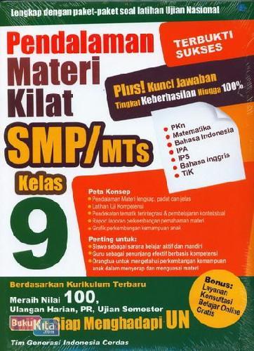 Cover Buku Pendalaman Materi Kilat SMP/MTs Kelas 9