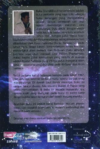 Cover Belakang Buku Risalah Rabbitku ONE MILLION PHENOMENA