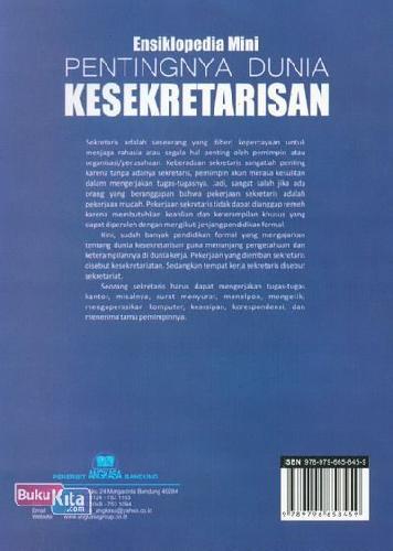 Cover Belakang Buku Ensiklopedia Mini: Pentingnya Dunia Kesekretarisan (Full Color)