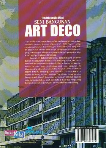 Cover Belakang Buku Ensiklopedia Mini: Seni Bangunan Art Deco (Full Color)