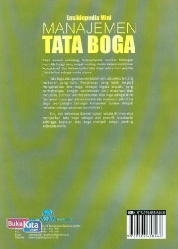 Cover Belakang Buku Ensiklopedia Mini: Manajemen Tata Boga (Full Color)