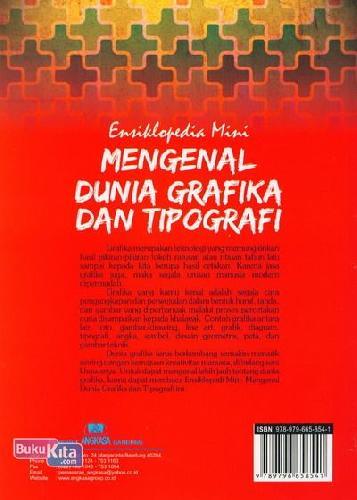Cover Belakang Buku Ensiklopedia Mini: Mengenal Dunia Grafika dan Tipografi (Full Color)
