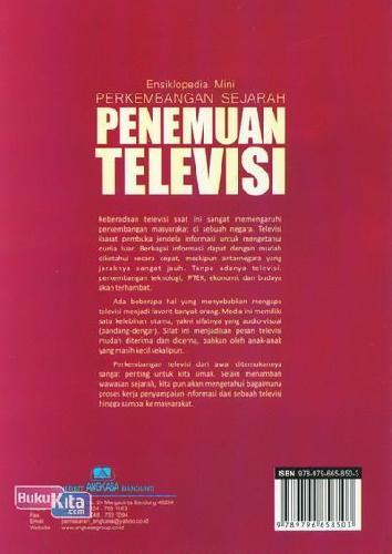 Cover Belakang Buku Ensiklopedia Mini: Perkembangan Sejarah Penemuan Televisi (Full Color)