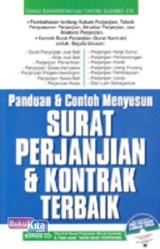 Cover Buku Panduan & Contoh Menyusun Surat Perjanjian & Kontrak Terbaik + CD