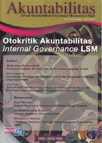 Cover Buku Akuntabilitas: Edisi 2 Februari - Juni 2014 Otokritik Akuntabilitas