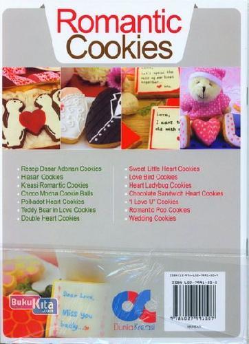 Cover Belakang Buku Romantis Cookies