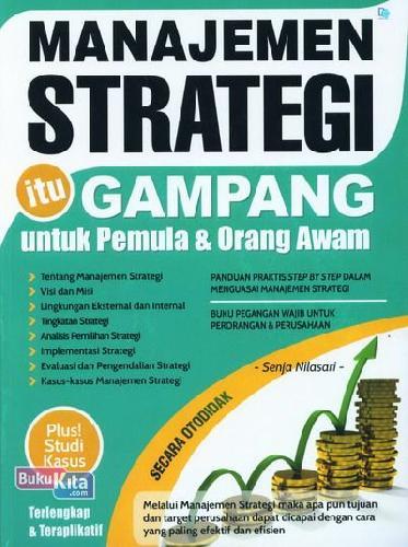 Cover Buku Manajemen Strategi itu Gampang untuk Pemula dan Orang Awam