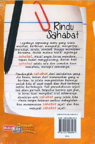 Cover Belakang Buku Rindu Sahabat